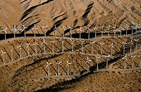 Wind farm turbines, Whitewater, California