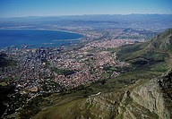 Capetown seen from Table Mountain - South Africa