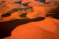 Dunes in the Namib Desert, Namibia, Aerial view