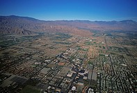 Suburban developments, Southern California, Aerial view