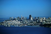 San Francisco, California skyline, aerial