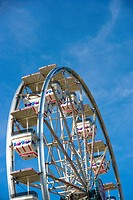 Low angle view of a ferris wheel, Riverfront Park, Cocoa Village, Cocoa Beach, Florida, USA