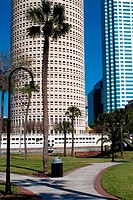 Skyscrapers in a city, Plant Park, University of Tampa, Tampa, Florida, USA