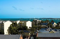 High angle view of buildings, Key West, Florida, USA
