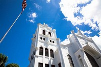 Low angle view of a church, St Paul's Episcopal Church, Key West, Florida, USA