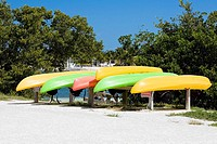 Boats in a row, Curry Hammock State Park, Marathon, Florida, USA