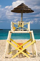 Lifeguard hut on the beach, Cable Beach, Nassau, Bahamas