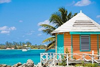 Beach hut on the beach, Nassau, Bahamas