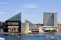 Buildings at the waterfront, National Aquarium, Inner Harbor, Baltimore, Maryland, USA (thumbnail)