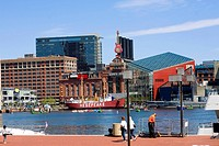 Buildings at the waterfront, National Aquarium, Inner Harbor, Baltimore, Maryland, USA