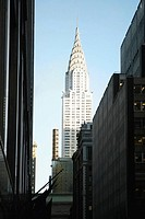 Low angle view of buildings in a city, Chrysler Building, Manhattan, New York City, New York State, USA