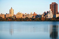 Buildings at the waterfront, Central Park, Manhattan, New York City, New York State, USA