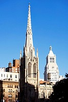 Cathedral in a city, St  Patrick's Cathedral, Manhattan, New York City, New York State, USA