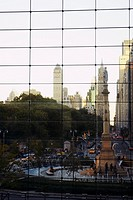 Skyscrapers in a city, Columbus Circle, Manhattan, New York City, New York State, USA