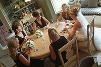 Bride and Bridesmaids Playing Cards