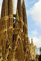 Facade of a church, Sagrada Familia, Barcelona, Spain