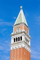 Low angle view of a bell tower, St  Mark's Square, Venice, Italy