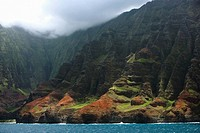 Panoramic view of the sea, Na Pali Coast State Park, Kauai, Hawaii Islands, USA