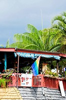 Low angle view of a restaurant, Kailua-Kona, Big Island, Hawaii Islands, USA