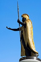 Low angle view of a statue, King Kamehameha Statue, Honolulu, Oahu, Hawaii Islands, USA