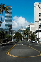 Buildings in a city, Honolulu, Oahu, Hawaii Islands, USA
