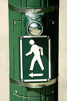 Close-up of a pedestrian crossing sign, Honolulu, Oahu, Hawaii Islands, USA