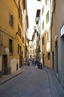 Group of people in an alley, Florence, Italy