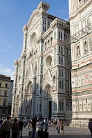 Facade of a church, Duomo Santa Maria del Fiore, Florence, Italy