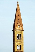 Tower of a church, Florence, Tuscany, Italy
