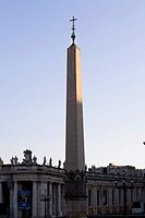 Obelisk in front of a church, St  Peter's Square, Vatican City