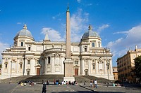 Obelisk in front of a church, Piazza dell'Esquilino, Santa Maria Maggiore Church, Rome, Italy