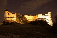 Low angle view of a fort, Fort du Mont Alban, Nice, France