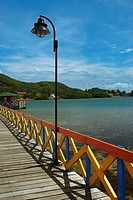 Pier in the sea, Lovebird's Bridge, Providencia, Providencia y Santa Catalina, San Andres y Providencia Department, Colombia