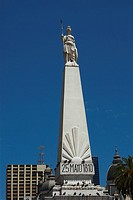 Low angle view of a monument, Piramide De Mayo, Plaza De Mayo, Barrio De Monserrat, Buenos Aires, Argentina