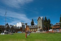 Park in front of a building, Civic Center, San Carlos De Bariloche, Argentina