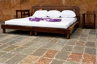 Mattress over a wooden bed, Cancun, Mexico