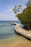 Pier in the sea, Las Palmas Resort, Roatan, Bay Islands, Honduras