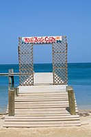 Pier in the sea, West End, Roatan, Bay Islands, Honduras