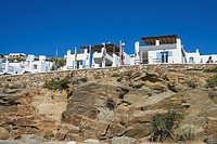 Low angle view of buildings, Mykonos, Cyclades Islands, Greece