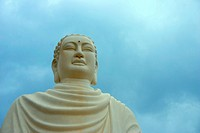 Low angle view of a statue of Buddha, Long Song Temple, Nha Trang, Vietnam