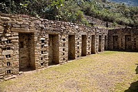 Old ruins of buildings, Choquequirao, Inca, Cusco Region, Peru (thumbnail)