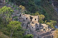 High angle view of the old ruins, Choquequirao, Peru