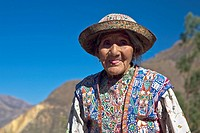 Portrait of a senior woman sticking her tongue out, Coshnirua, Peru