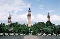 Three Pagodas of Congsheng Temple, Dali City, Yunnan Province, People´s Republic of China, FOR EDITORIAL USE ONLY