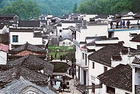 Ancient common people residences of Huipai in Likeng Village, Wuyuan County, Jiangxi Province of People´s Republic of China, FOR EDITORIAL USE ONLY