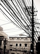 Power lines, China