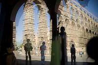 Roman aqueduct. Segovia. Spain.