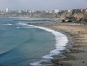 Chorrillos beach. Lima. Peru.