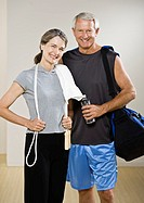 Mature couple in exercise attire, portrait