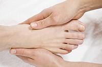 Close up of foot massage